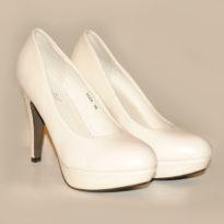 Pantofi cu toc Ellegance albi
