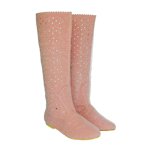 Cizme de vara perforate Delia roz