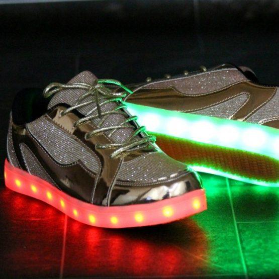 Adidasi LED Gold-Pink (3)