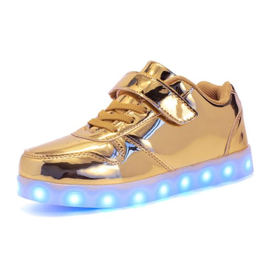 Adidasi cu Leduri Gold pentru copii