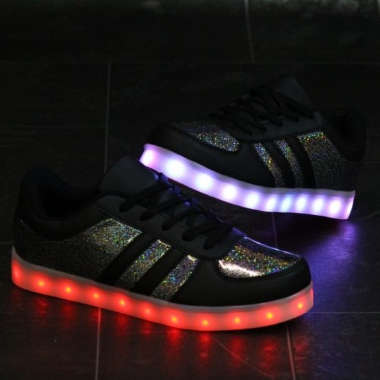 Adidasi cu Leduri Black-Shiny (1)