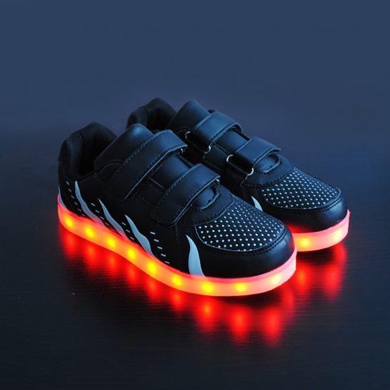 Adidasi cu Leduri pentru copii Black-Flame