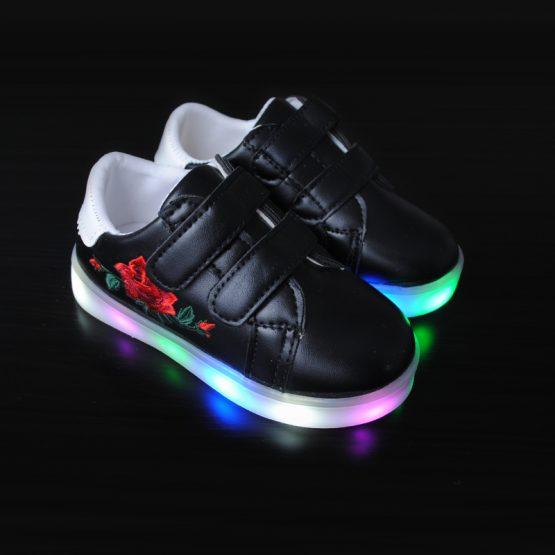Adidasi cu Leduri pentru copii Patty negri